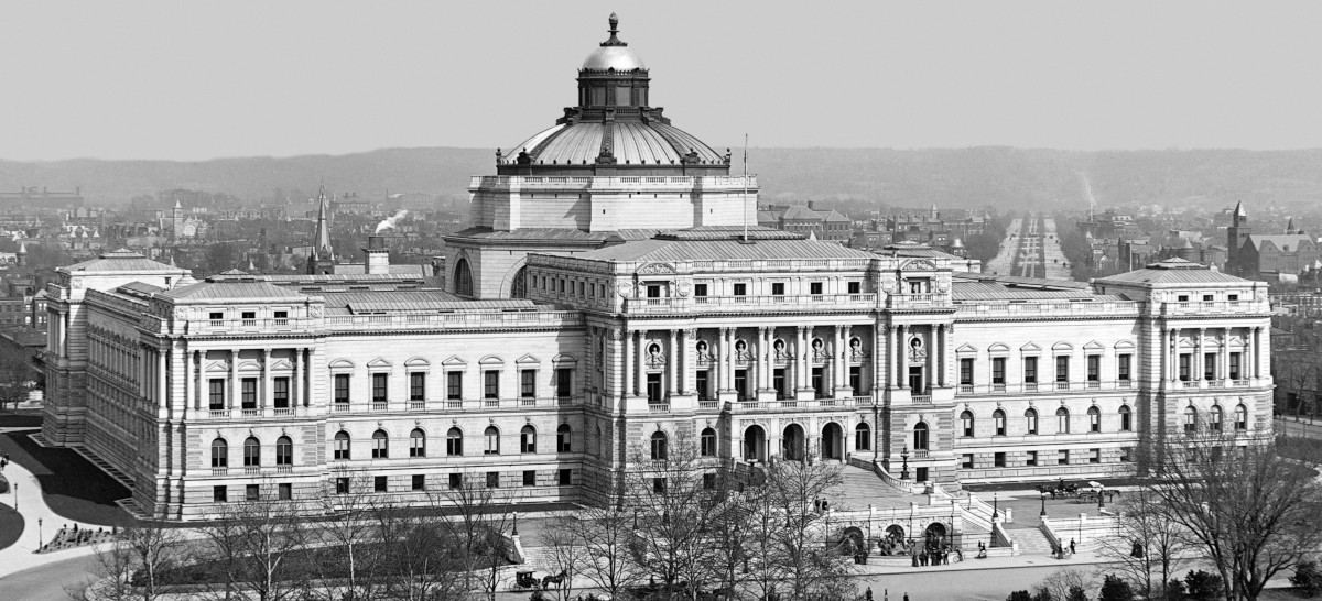 A photo of the Library of Congress in 1902.